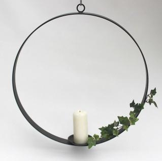Kerzenhalter aus Metall Rund Durchmesser 50 cm Kerzenständer Hängeleuchter