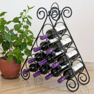 """Weinregal """" Kalina"""" Pyramide aus Metall für 10 Flaschen Flaschens"""