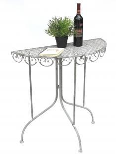 Wandtisch Triora 20735 Konsolentisch Beistelltisch aus Metall 80 cm Konsole Gartentisch Halbrund