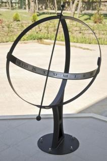 Sonnenuhr Zenit Schmiedeeisen Metall Wetterfest H-170cm D-100cm Schmiedekunst