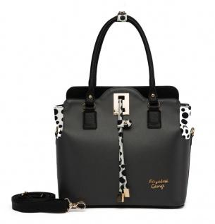 Elizabeth George Damen Handtasche 759-7 Damentasche Henkeltasche Tragetasche Schultertasche Shopper