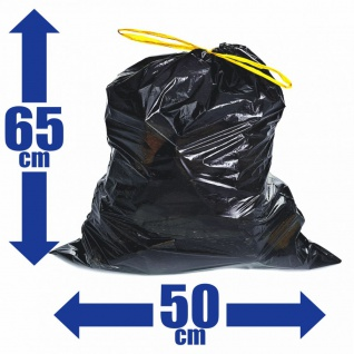 100x Müllsäcke 30L Zugband Extra Reißfest Stark Abfallsäcke Zugbandsack Müllsack - Vorschau 1