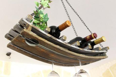Weinregal 5089 Deckenregal aus Holz 65cm Hängeregal Flaschenhalter Flaschenregal - Vorschau 1