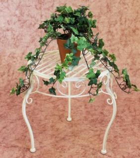 Blumenhocker Romance 35cm Blumenständer 20218 Pflanzenständer Beistelltisch Weiß - Vorschau 3