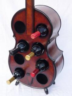 Weinregal Flaschenregal Flaschenständer Cello aus Holz Flaschenh - Vorschau 2