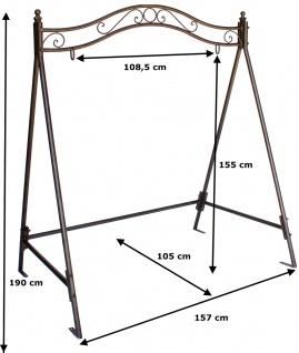 Gestell für Schaukel 082505 Hollywoodschaukel aus Eisen Schaukelgestell Metall - Vorschau 2
