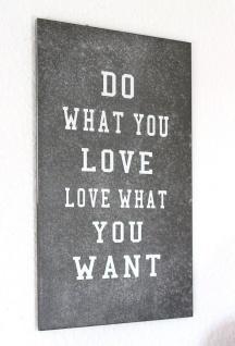 Wandbild 20452 LOVE Wandbrett 40cm Shabby Holzschild Vintage Holzbild Wandschild