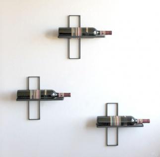 Weinregal D3 aus Metall Flaschenständer 3er Set Wandregal Flaschenregal Regal