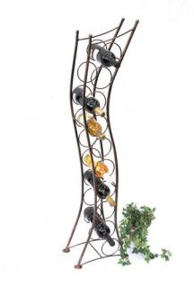 Weinregal Art.244 Flaschenständer 125cm Flaschenhalter Flaschenregal aus Metall