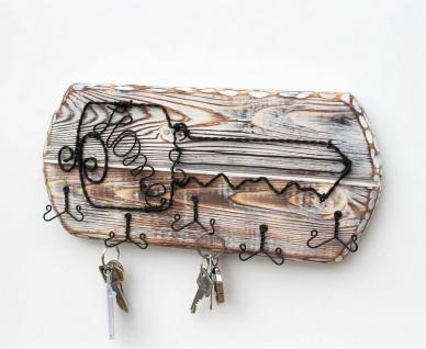 DanDiBo Schlüsselbrett Holz Schlüsselboard 93910 Schlüsselhaken handgemacht Handmade Bügel Holzschlüssel - Vorschau 2