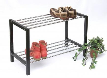 Schuhregal Art.388 Schuhbank 70cm Schuhschrank aus Metall Schuhablage Modern