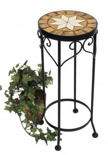 Blumenhocker Merano 46cm Mosaik 12011 Blumenständer Hocker Rund Beistelltisch