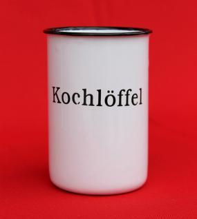 """Nostalgischer Kochlöffelhalter """"Kochlöffel"""" 51212 Weiß 11, 5 cm emailliert Landhaus Emaille Becher Metallbecher - Vorschau 4"""