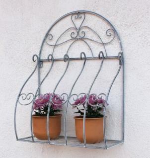 Wandblumenhalter Romance 66cm Blumenständer 20312 Metall Wandregal Blumenregal