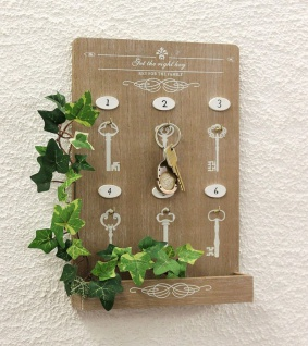 Schlüsselboard mit Ablage 18238 Schlüsselkasten Memoboard 30cm Schlüsselleiste