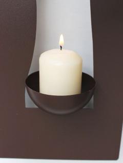Wandleuchter Flamme 13332 Kerzenleuchter für 1 Kerze Wandkerzenhalter aus Metall Kerzenhalter - Vorschau 2