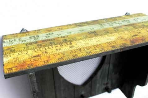 DanDiBo Schlüsselleiste mit Ablage Holz A12020 Wandregal mit Herz Schlüsselregal Schlüsselbrett Schlüsselboard Schlüsselhaken Wandkosole Vintage Shabby Hakenleiste Regal Briefablage - Vorschau 4