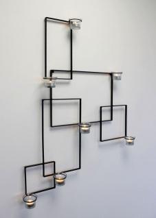 DanDiBo Wandteelichthalter Alegria Metall Wand Schwarz Teelichthalter Kerzenhalter Wandkerzenhalter Wandleuchter - Vorschau 4