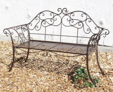 DanDiBo Gartenbank Metall Braun Wetterfest 146 cm 2 Sitzer Parkbank 111183 Antik Eisen Sitzbank Garten Antik - Vorschau 3