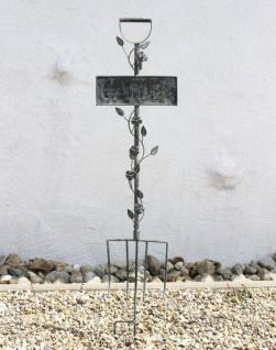 Rankhilfe Gabel Garten 92110 Rankgitter aus Metall H-130cm B-28cm Kletterhilfe