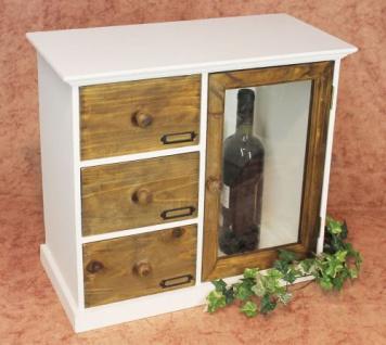 Schrank Minikommode 12019 Küchenschrank Regal 50cm Shabby Küchenregal Vitrine