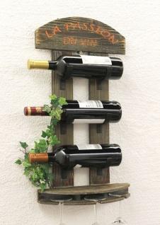 Weinregal Wandregal 5091 aus Holz 60cm Weinbar Bar Flaschenhalter Flaschenregal