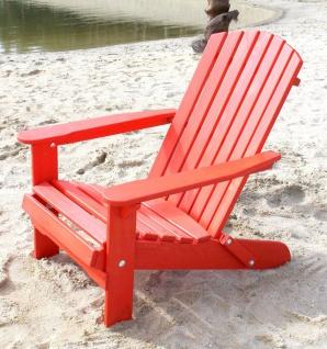 DanDiBo Strandstuhl Sonnenstuhl aus Holz Rot Gartenstuhl klappbar Adirondack Chair Deckchair