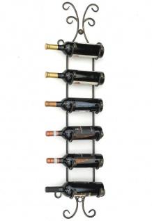 DanDiBo Weinregal Metall Wand Schwarz 568 Flaschenregal Flaschenhalter Wandmontage Modern Wandhalter Wandregal für 6 Flaschen