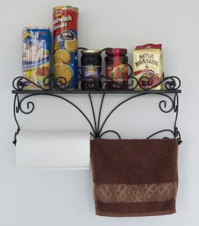 Wandregal Especias Wandkonsole 53cm Küchenregal aus Metall Badregal Wandablage