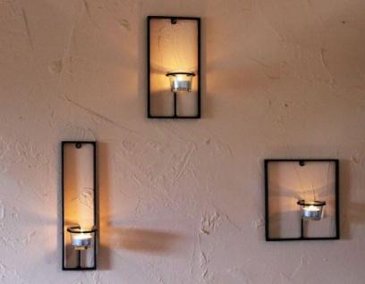 Wandteelichthalter Carre 3-tlg. Wandkerzenhalter Metall Teelichthalter Teelicht