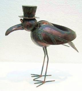 Möwe Vogel aus Metall Garten und Balkon Deko 45 cm