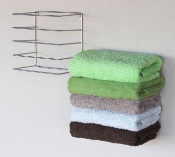DanDiBo Handtuchhalter Chrome Wand Handtuchregal zur Wandmontage 2er Set 20 cm 93928 Unsichtbar Schwebend Wandhandtuchhalter Metall Modern Design - Vorschau 4