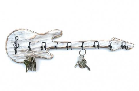 DanDiBo Schlüsselbrett Holz Handmade 96107 Gitarre Schlüsselboard Schlüsselhaken Schlüsselleiste Schlüsselkasten - Vorschau 5