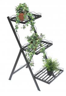 Blumentreppe Fiorina aus Metall 94cm Kräuterregal Pflanzentreppe Blumenregal