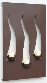 Wandleuchter Flamme 13333 Kerzenleuchter für 3 Kerzen Wandkerzenhalter aus Metall Kerzenhalter