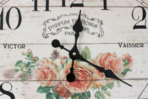 Wanduhr Rose Loft 84631 Quarzuhr Ellipse B-49cm Uhr Designuhr Vintage Shabby - Vorschau 3