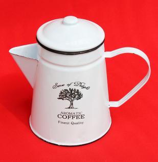 Emaille Kaffeekanne 18cm emailliert 51202 Coffee Weiß Wasserkanne Kanne Teekanne - Vorschau 2