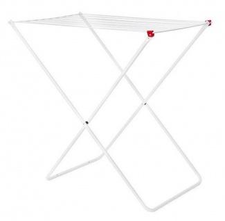 DanDiBo Wäscheständer Wäschetrockner Standtrockner Weiß 93918 Faltbar Schmal Metall ohne Flügel ohne Rollen Platzsparend Zusammenklappbar