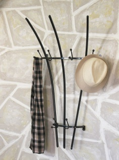 Wandgarderobe WI007 Garderobe 100 cm Kleiderhaken Wandhaken Haken Wandregal - Vorschau 5