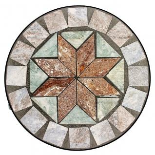 Blumenhocker Mosaik Rund 29 cm Blumenständer 17828 Beistelltisch Pflanzenständer Mosaiktisch Klein - Vorschau 5