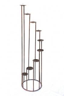 Kerzenständer Art.225 aus Schmiedeeisen 102cm Kerzenleuchter Kerzenhalter Metall - Vorschau 2