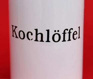"""Nostalgischer Kochlöffelhalter """"Kochlöffel"""" 51212 Weiß 11, 5 cm emailliert Landhaus Emaille Becher Metallbecher - Vorschau 3"""