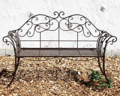 DanDiBo Gartenbank Metall Braun Wetterfest 146 cm 2 Sitzer Parkbank 111183 Antik Eisen Sitzbank Garten Antik - Vorschau 2