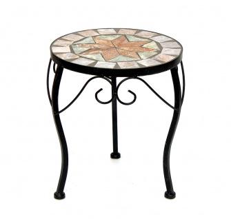 Blumenhocker Mosaik Rund 29 cm Blumenständer 17828 Beistelltisch Pflanzenständer Mosaiktisch Klein - Vorschau 2