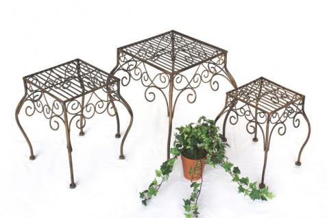 Blumenhocker 3er Set Blumenständer 140102 Pflanzenständer Hocker Beistelltisch