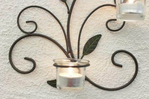 Wandteelichthalter 131004 Teelichthalter aus Metall 45cm Wandleuchter Kerzenhalter - Vorschau 3