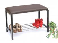 Schuhregal mit Sitzbank Art.391 Bank 70cm Schuhschrank aus Metall Schuhablage