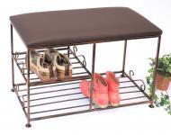 Schuhregal mit Sitzbank Art.295 Bank 70cm Schuhschrank aus Metall Schuhablage