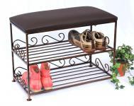 Schuhregal mit Sitzbank Art.165 Bank 60cm Schuhschrank aus Metall Schuhablage