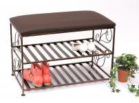 Schuhregal mit Sitzbank Art.222 Bank 70cm Schuhbank Schuhschrank aus Metall Schuhablage